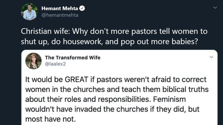 Christian Wife Wonders Why More Pastors Don't Tell Women To Mind Their Place