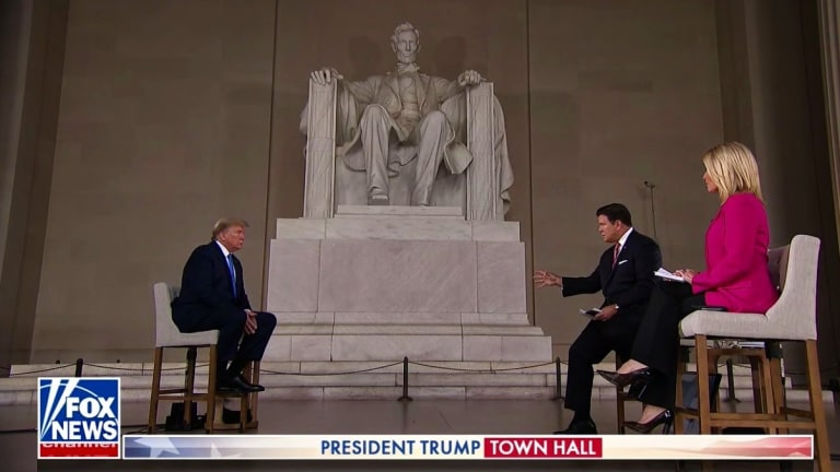 At The Lincoln Memorial, Trump Tells Fox He's Been Treated Worse Than Lincoln