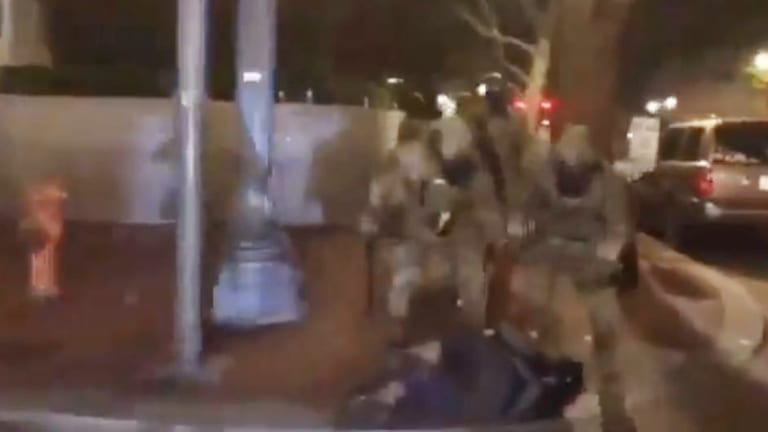 WATCH: In Portland, Trump's Secret Police Are Beating Medics With Batons