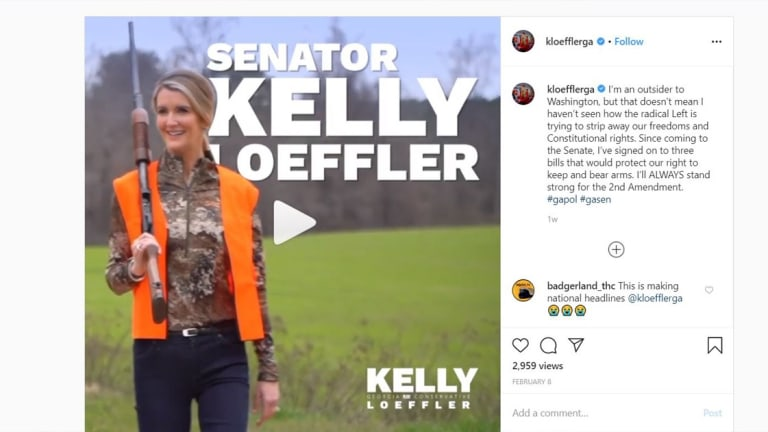 Kelly Loeffler Gym - GOP senator who posed in hunting gear