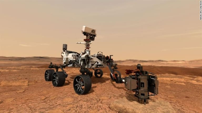 Percy Looks For Signs Of Life On Mars