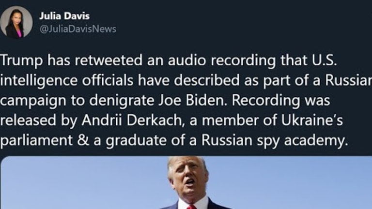 Trump Retweeted Audio That US Intel Says Is Part Of Russian Anti-Biden Campaign