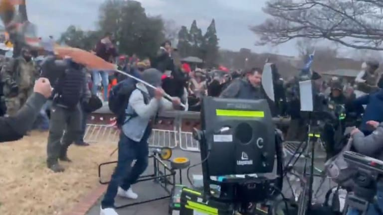 WATCH: Insurrectionists Attack Members Of News Media Outside U.S. Capitol
