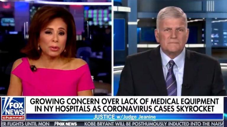 "Franklin Graham: We Have Coronavirus Because Man ""Turned His Back on God"""