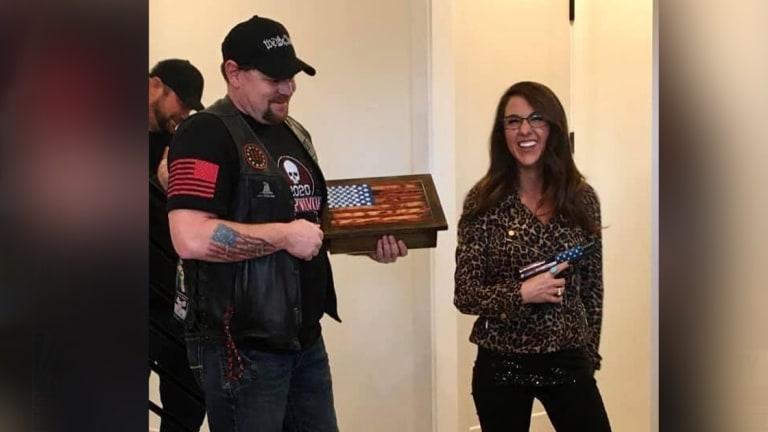 Biker Group Gave Lauren Boebert Custom-Printed Glock, Likely An Illegal Gift