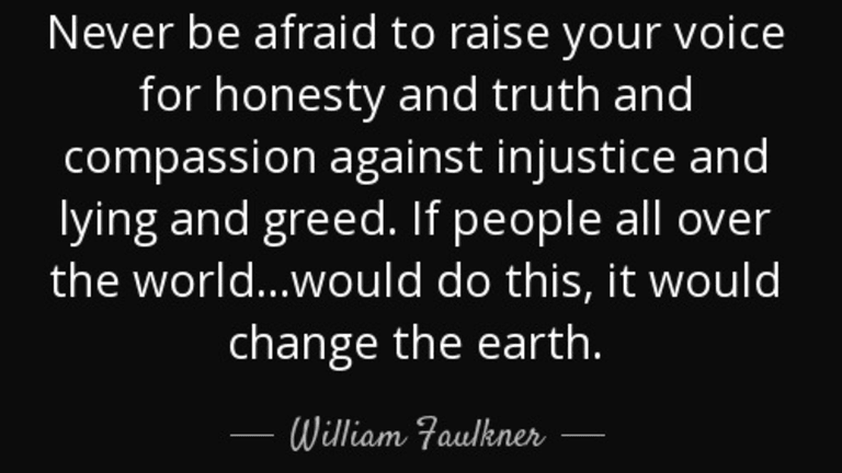 William Faulkner On The Need To Confront Injustice