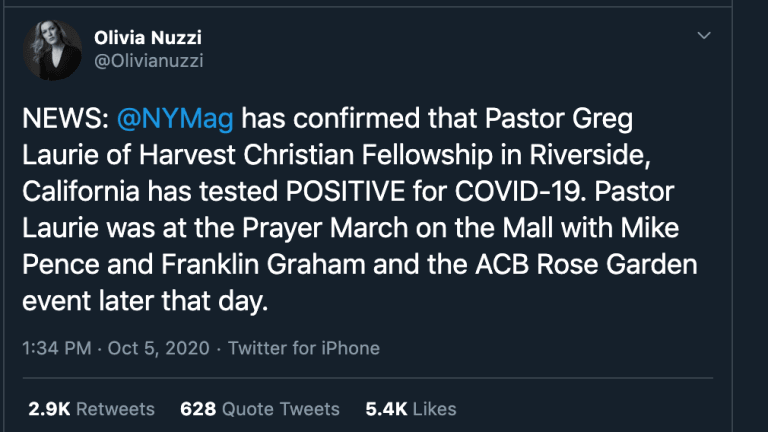 Report: Mike Pence Attended Prayer March With Pastor Now Infected With COVID-19