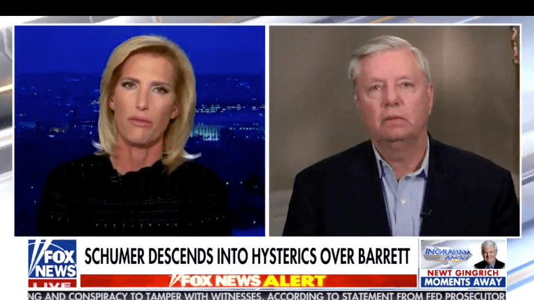 WATCH: Laura Ingraham Cuts Off Lindsey Graham As He Grovels For Money