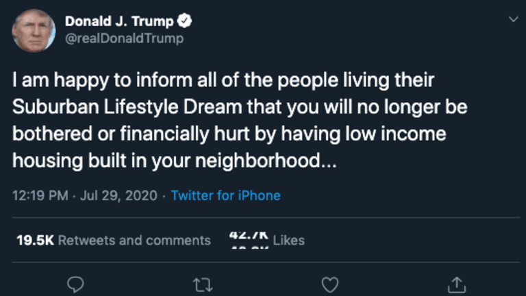 Trump Posts Tweet Oozing With Racism And Contempt For The Poor