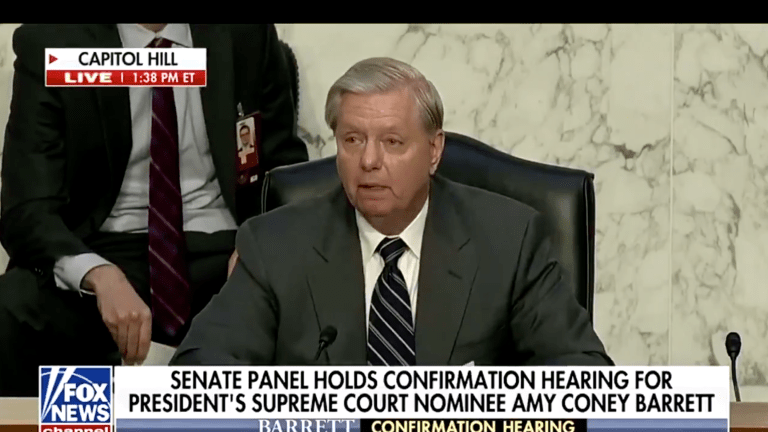 WATCH: Lindsey Graham Comes Out Against COVID Testing At SCOTUS Hearing