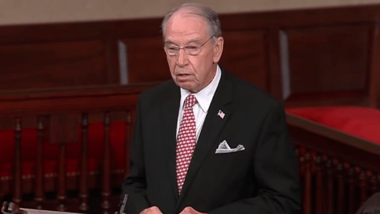 Senator Chuck Grassley Is Applying For A Federal Farm Bailout Again