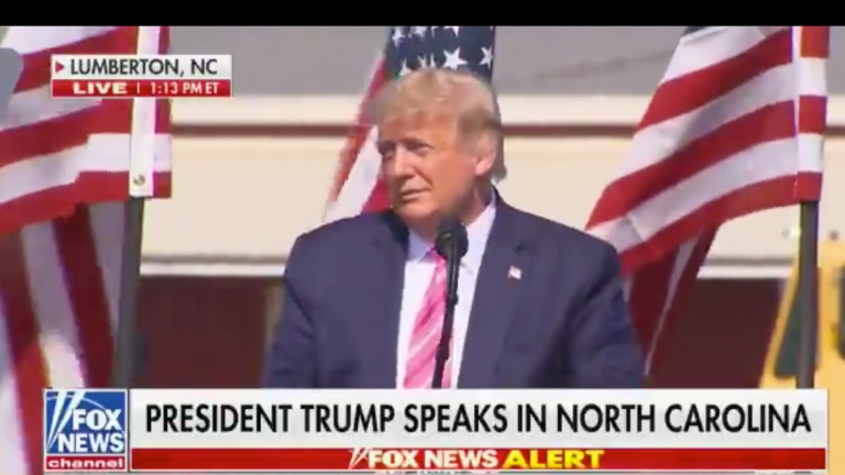 WATCH: In North Carolina, Trump Claims Credit For Saving Christmas